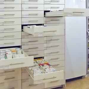 Рецептурные шкафы для аптек Метабоксы