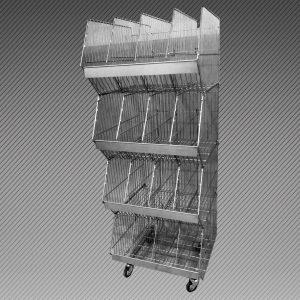 КОШ 4 корзины глубиной 600мм с разделителями