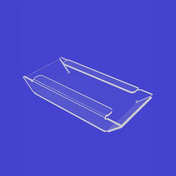 Подставка под визитки 100х60х65 мм из оргстекла