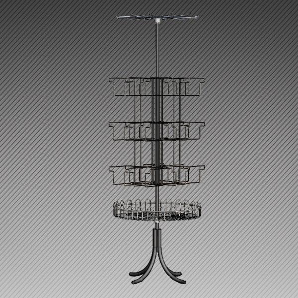 aav 600x600 - Стойка круговая, 18 яч. для колготок, 1 дисплей, 1 корзина